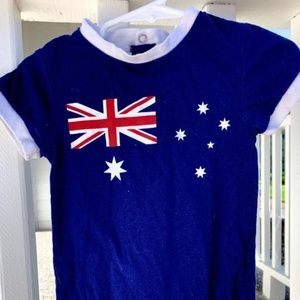 European Baby Romper with British Flag